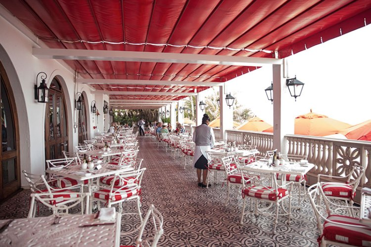 The Ocean Terrace patio serves up spectacular views and a bistro-style menu