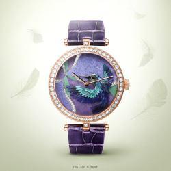 Lady Arpels Colibri Indigo watch