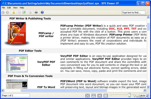 Convert XPS to Text, here we go VeryDOC Knowledge Base
