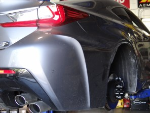 Velocity Factor - 2015 Lexus RC F with VFR Wheel Spacers