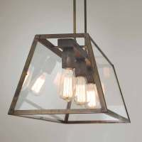Industrial style 3 lights pendant lamp London Il Fanale