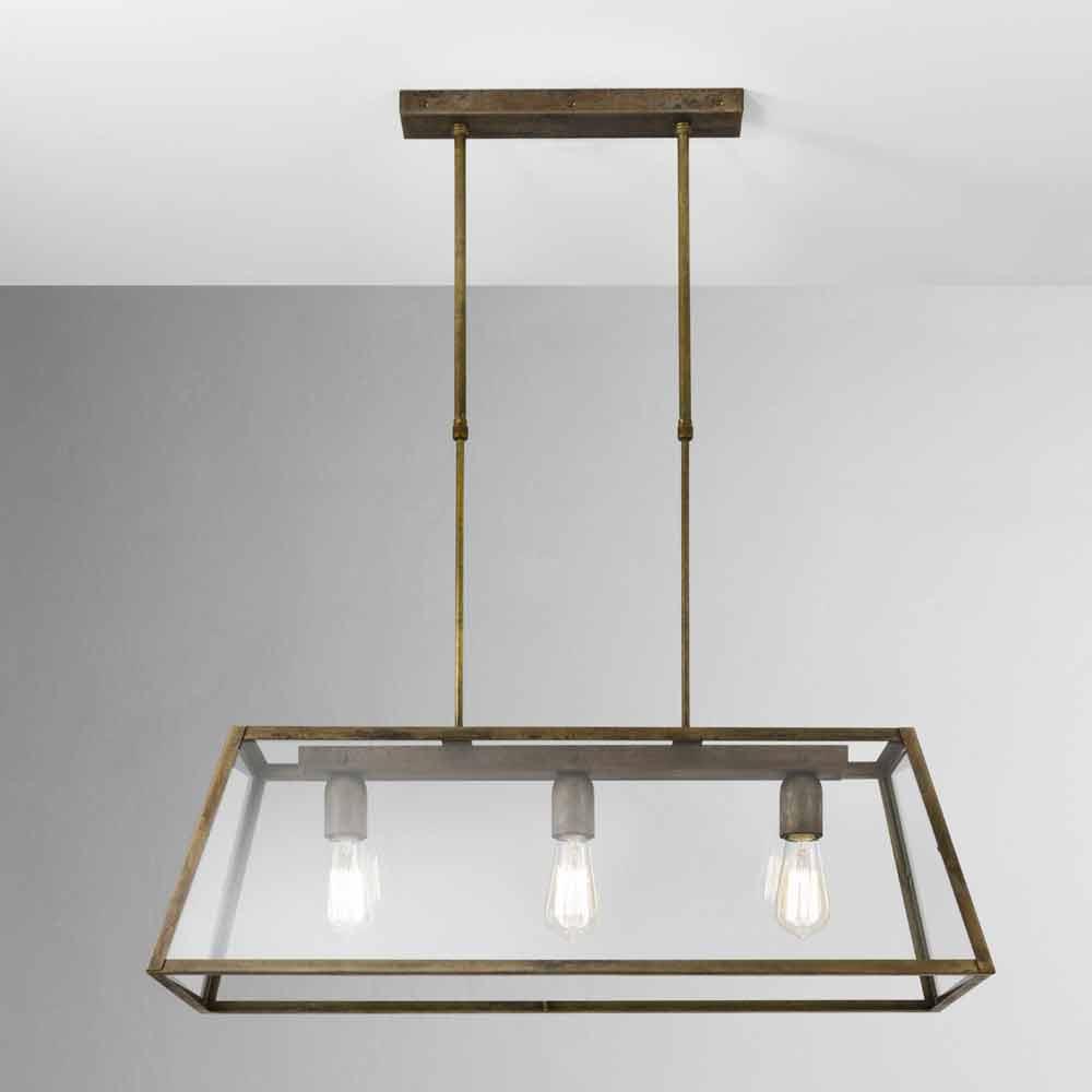 Industrial style 3 lights pendant lamp London Il Fanale
