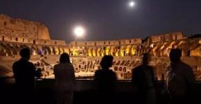 La luna sul Colosseo, visite serali al Colosseo di Roma