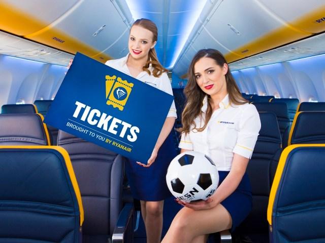 Ryanair pone a la venta entradas para eventos deportivos en su web