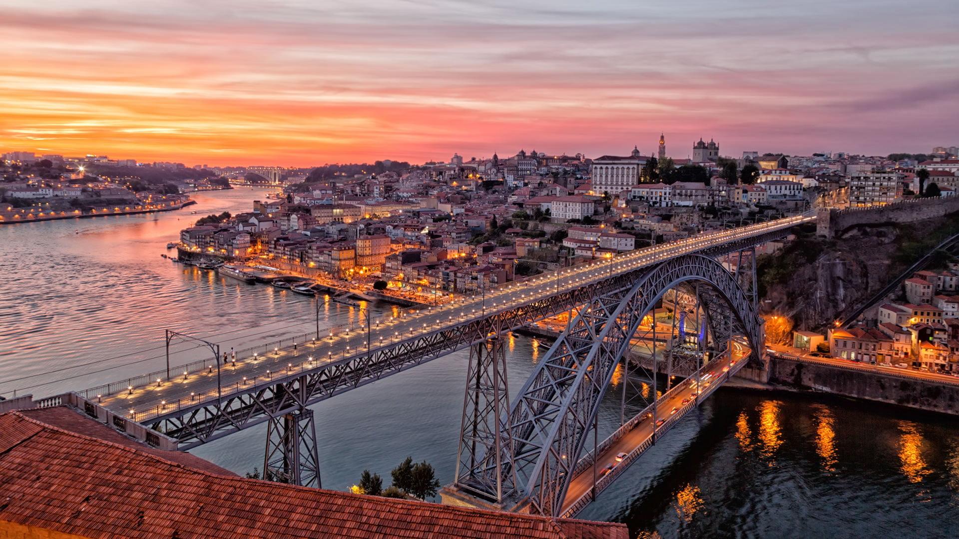 Paisajes Wallpapers Full Hd Puente De Luis I Oporto Portugal