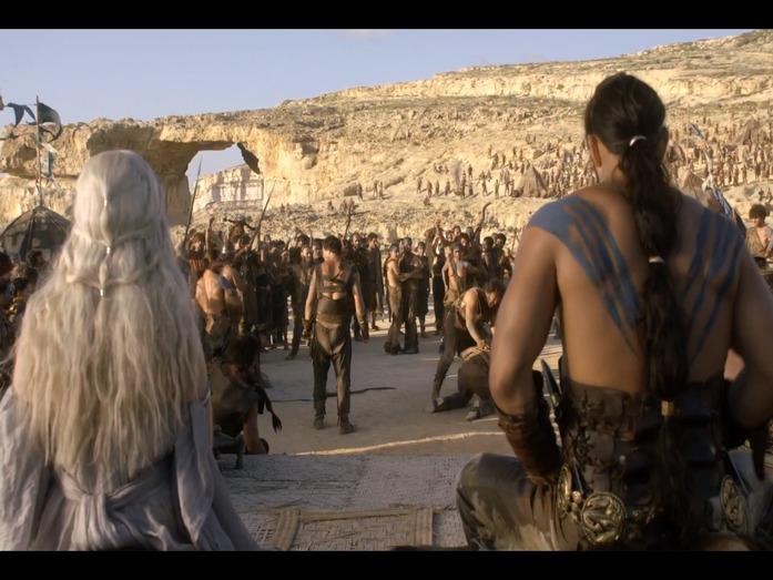 The wedding of Khaleesi to Khal Drogo