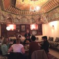 Dining at a home in Fes with our tour group
