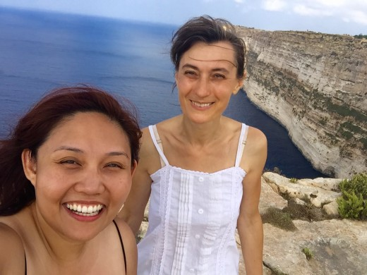Grateful to Helena for showing me around Ta Cenc cliffs which is right behind their house