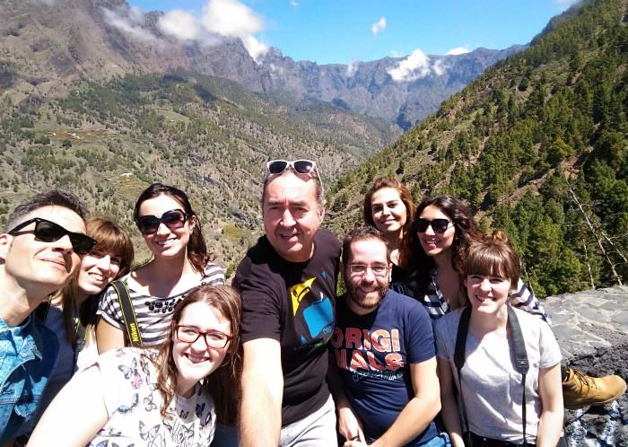 9 travel bloggers y un palo de selfie - Caldera de Taburiente