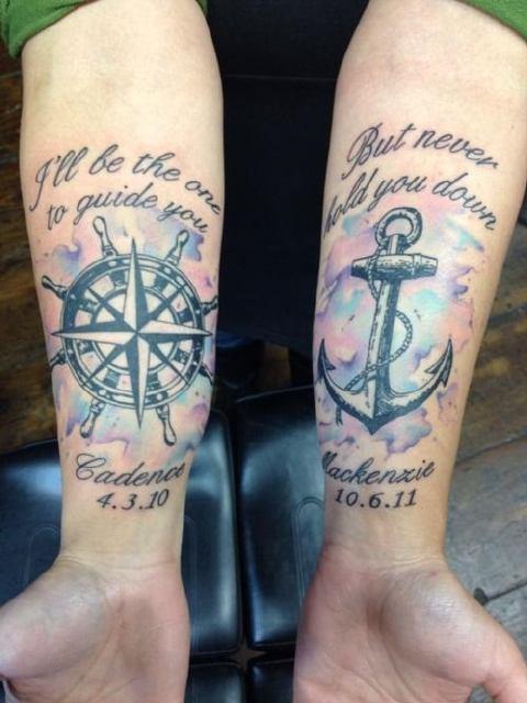 Melissa Reyes Tattoo Anchor Tattoo Pinterest Tattoo, Tatoos