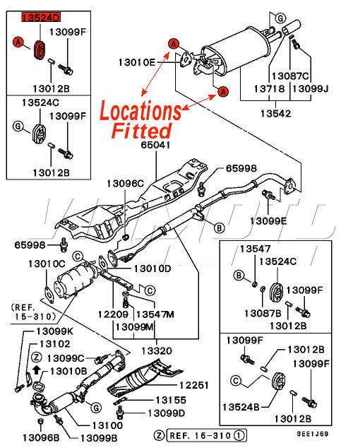 Viamoto Car Parts, Mitsubishi Lancer EVO 1 CD9A Parts, EVO 1 CD9A