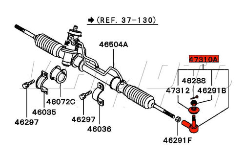 auto tie rod diagram