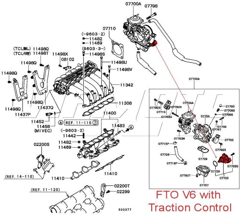 Viamoto Car Parts, Mitsubishi FTO Parts, FTO - Engine Parts - 20 V6