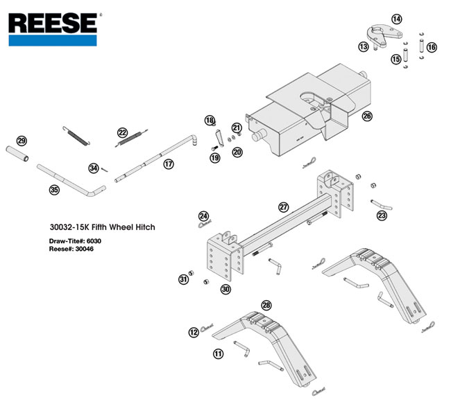 reese trailer hitch wiring diagram