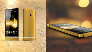 telephone sony Xperia P en or 24 carats 2