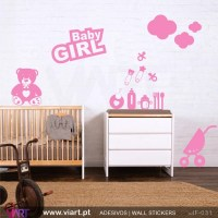 BABY GIRL! Wall stickers - Baby room decoration - Viart