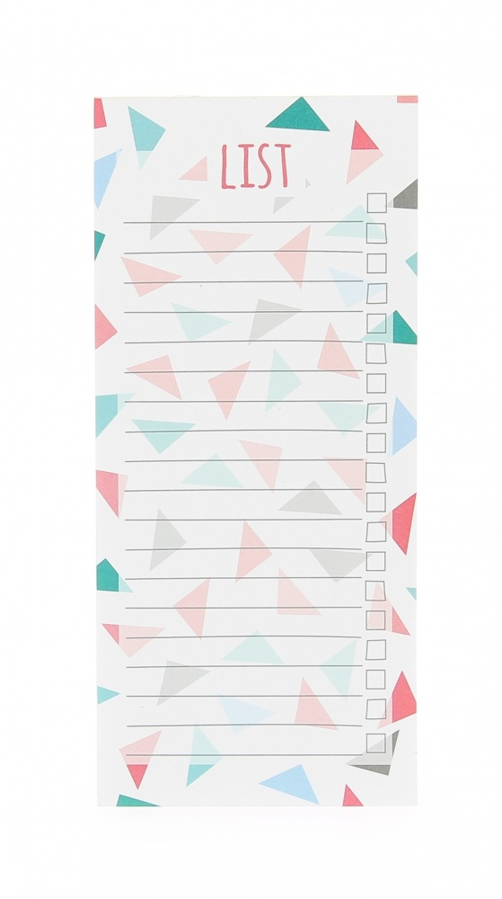 Slim Lined To Do List Pad - Vibrant Home