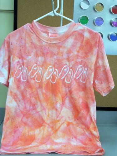 Elmer's Glue and Simply Spray Batik T-shirts
