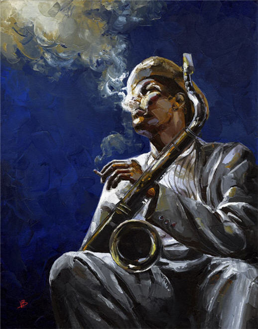 Hd Dexter Wallpaper Jazz Dexter Gordon Original Painting Oil By Victor Bauer