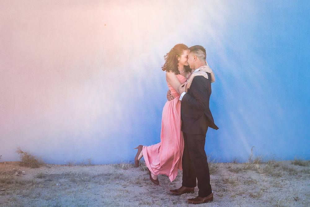 Orange County Wedding Photographer doing a shoot in Joshua Tree