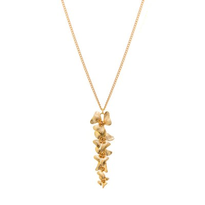 Gold Dust Orchid Necklace