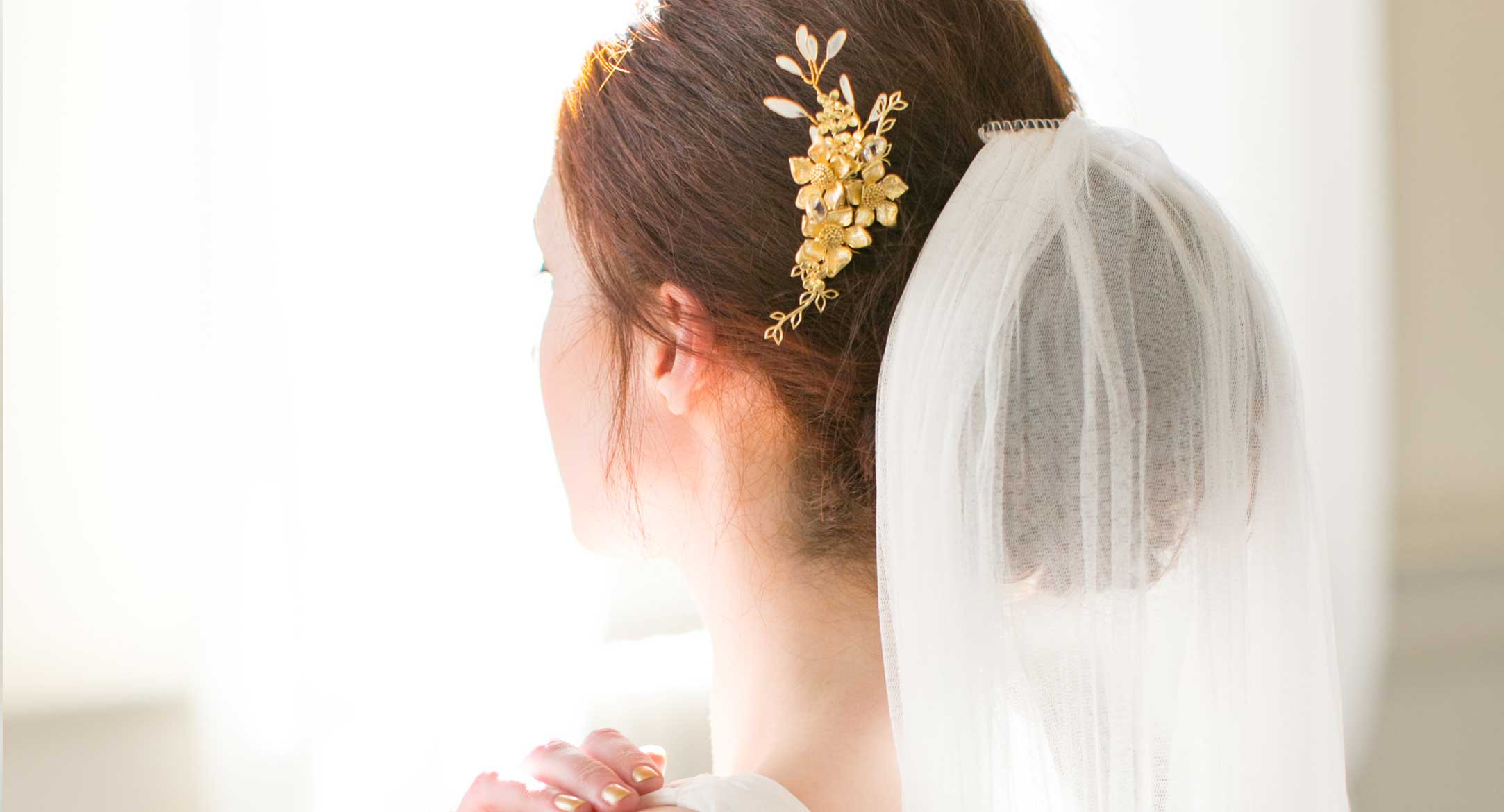 Pure Silk Wedding Veil