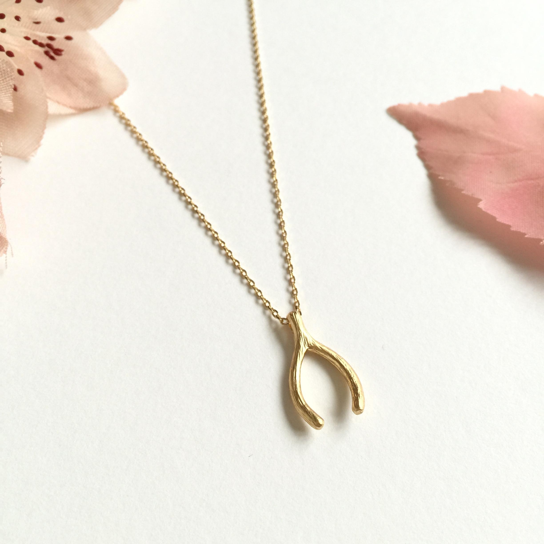 Bridesmaid Wishbone Necklace