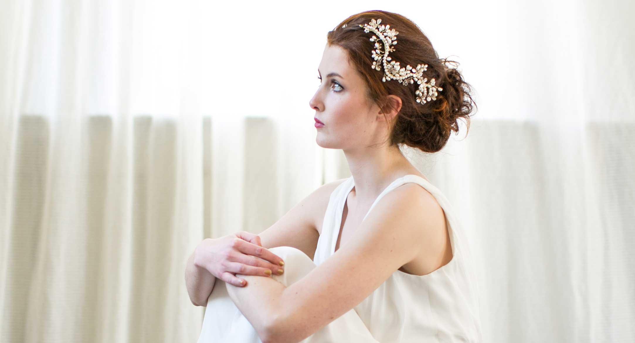 Gold Pearl Bridal Headpiece