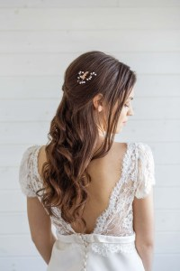 Orchid Bridal Hair Pin - Victoria Millesime
