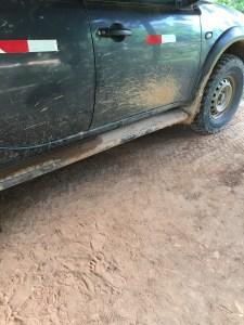 footprint next to truck