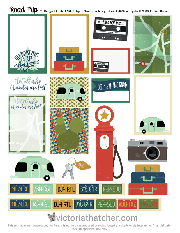 Road Trip Planner Printable - Victoria Thatcher