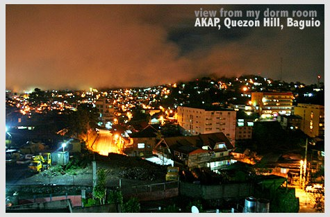 Baguio City at night