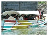 classmates onboard the bancas
