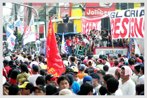 Anti-Arroyo Rally in Mendiola, February 25, 2008