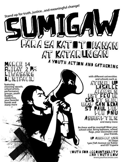 Sumama sa Liwasang Bonifacio, Marso 14!