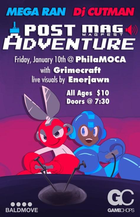 MegaRan Dj CUTMAN and Grimecraft Live at the PhilaMOCA on January 10th 2014 - Post MAGFest Adventure Tour