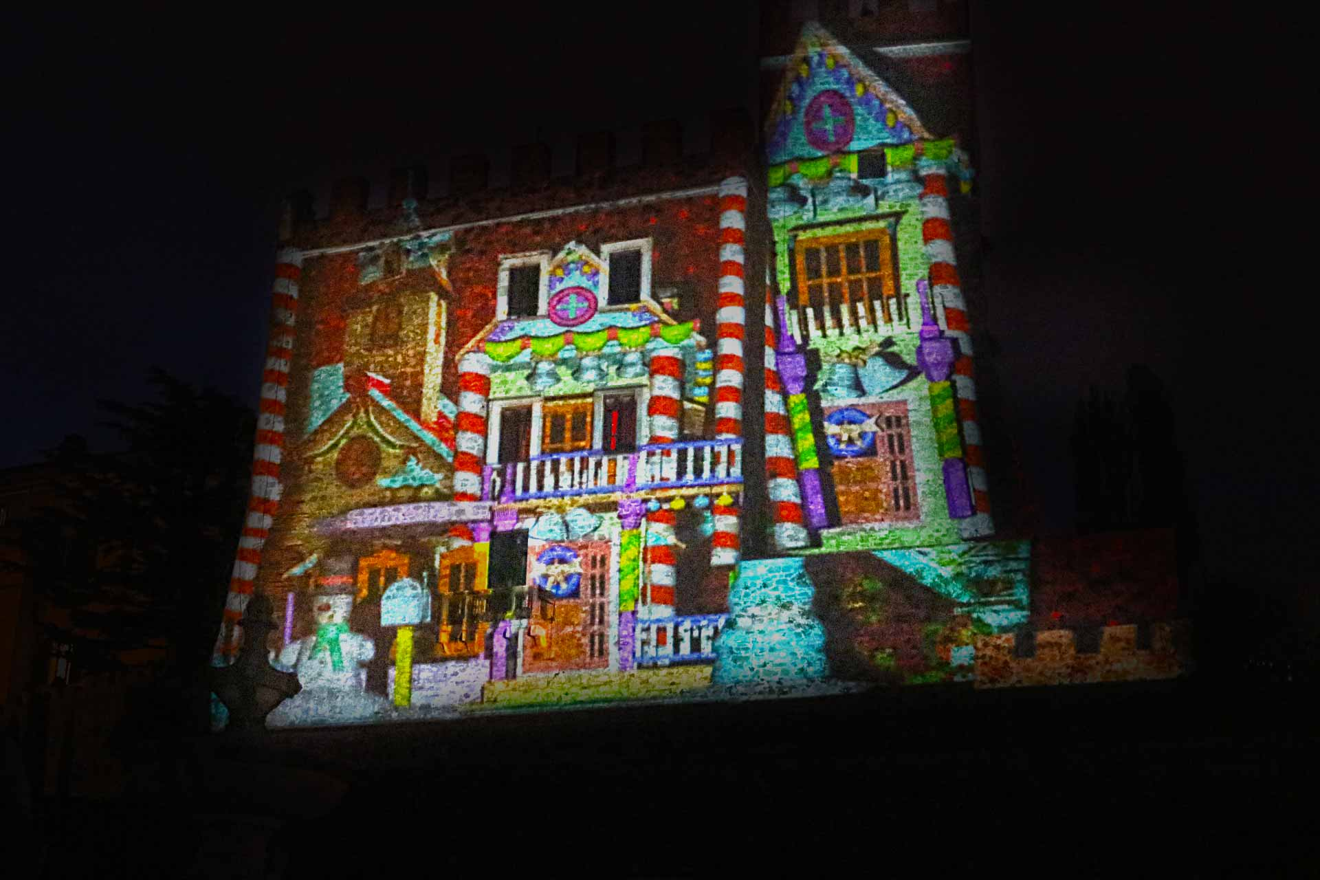 3d Hologram Effect Wallpaper Christmas 3d Video Mapping Manciano Gr 3d Video
