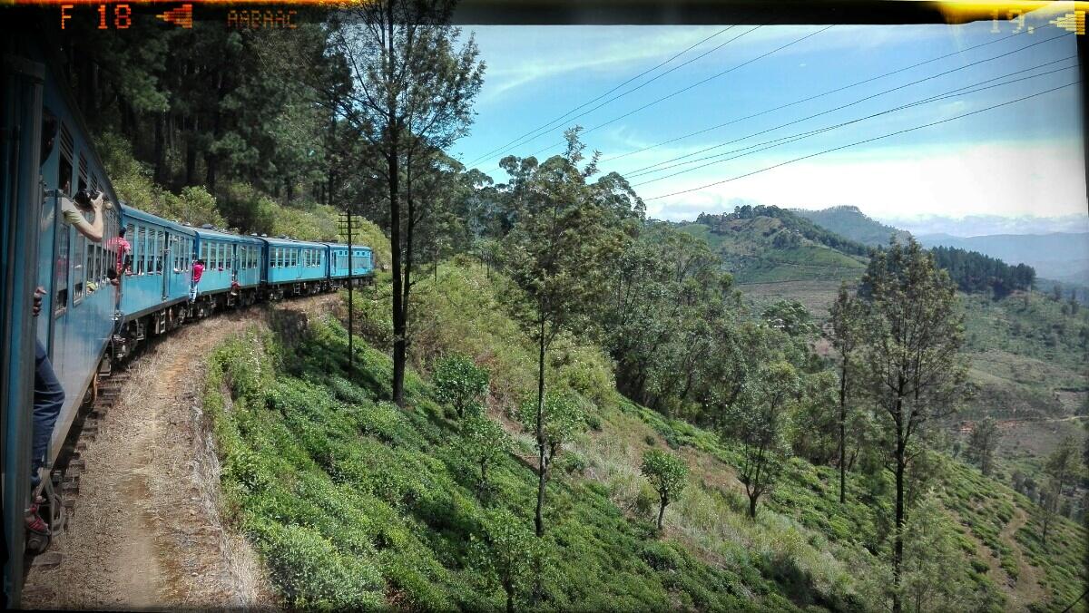 Sri Lanka Zugfahrt von Ella bis Kandy