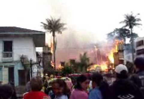 Incendio en el municipio de Circasia