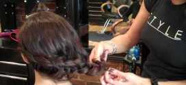 Easy Side Braid and Side Bun Updo That You Can Do At Home