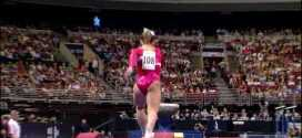 Shawn Johnson Vault 2008 Olympic Trials Day 1
