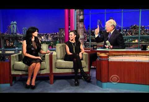 Kourtney and Kim Kardashian on David Letterman HD