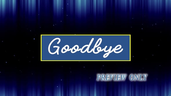 Goodbye: Thank You For Coming To Worship
