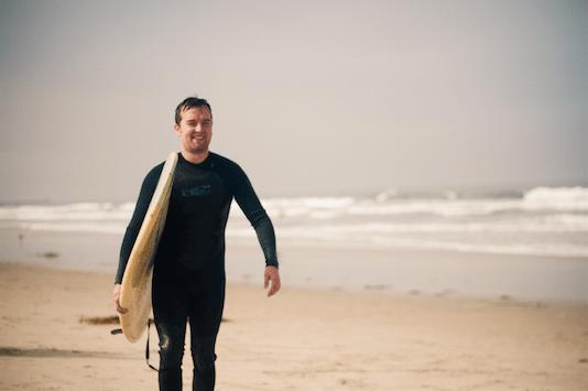 phil Ebiner surfing