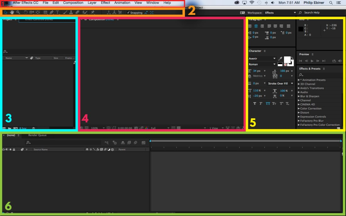 after effects layout