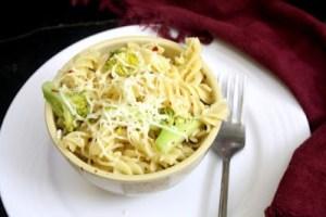Creamy Corn Broccoli Fusilli