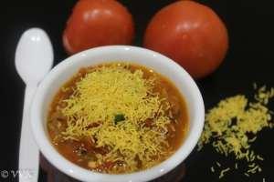 Tameta Nu Shaak   Gujarati Special Sev Tomato