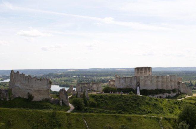 Normandie Frankreich Urlaub Das ehemalige Zuhause von Richard Löwenherz Château Gaillard bei Les Andelys