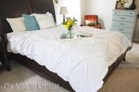 Tutorial: How to make a DIY Pintuck Duvet cover