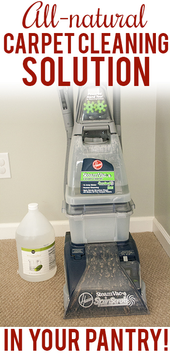 All-Natural Carpet Cleaning Solution Recipe